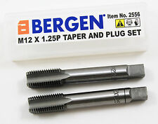 BERGEN 2pc M12 x 1.25P Tap Set - Taper & Plug (2556)