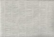 Wallpaper Designer Light Taupe Gray Faux Pleated Crinkled Fabric Not Textured
