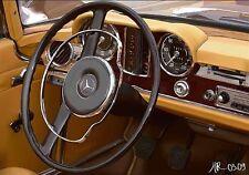 Pierre Strapélias: 280 SL Fertig-Bild 30x40 Wandbild Mercedes Oldtimer Kult