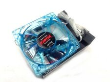 "1 PC New 80mm 8cm 3.15"" Blue 4 LED LEDs Case Power Supply Fan 3/4 Pin DC 12V"