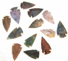 4 REAL STONE ARROWHEAD stone rock collectibles jewelry pendant agate  JEWELRY