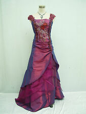 Cherlone Clearance Purple Ballgown Wedding Formal Bridesmaid Dress Size 8-10
