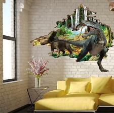 Kids Children Room Decor 3D Dinosaur Wall Stickers Removable Vinyl Mural Decals