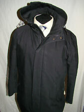 HUGO BOSS (COMOS) SMART GENT'S DESIGNER BLACK HOODED COAT UK/US 40's EU 50's