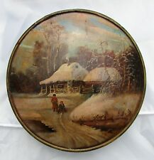 Russian Winter Landscape on Wood Plaque by B. KOVALEVSKY (RUSSIAN, EARLY 20th C)