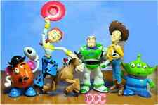 TOY STORY 3 BUZZ LIGHTYEAR WOODY Figures SET free 6 pcs