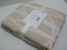 Pottery Barn Organic Cotton Light Brown King Cal King Aubrey Duvet Cover New