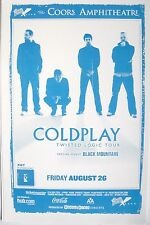 "COLDPLAY 2005 ""TWISTED LOGIC CONCERT TOUR"" SAN DIEGO CONCERT POSTER"