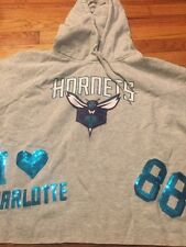 NWT Women's Size XL NBA 4her Charlotte Hornets Crop Pullover Hoodie