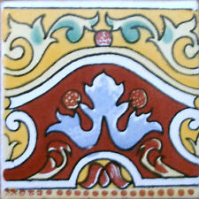 9 MEXICAN TILES WALL OR FLOOR USE TALAVERA MEXICO CERAMIC HANDMADE POTTERY C#083