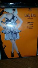 Brand new lady diva lady Gaga costume Sexy womens halloween costume size L 12/14