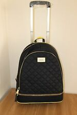 BNWT River Island black quilted backpack on wheels