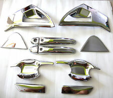 SET CHROME HANDLE BOWL COVER TRIM FOR NEW NISSAN JUKE 4DOOR HATCHBACK 2014 V.1