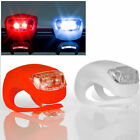 2X Silicone Bike Bicycle Cycling Head Front Rear Tail Wheel LED Flash Light Lamp