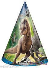 JURASSIC WORLD CONE HATS (8) ~ Dinosaur Birthday Party Supplies Favors Indominus