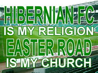 Hibernian is my Religion Easter Road is my Church  Metal Sign  (Aluminium) HIBBS