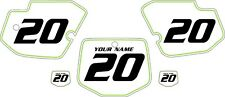 1996-2004 Kawasaki KX500 Custom Pre-Printed White Backgrounds Green Pinstripe
