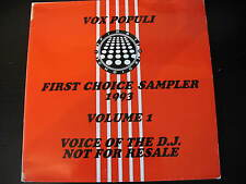 "V/A-FIRST CHOICE SAMPLER 1993. VOX POPULI. PROMO DOUBLE 12"" SINGLE.GARAGE, HOUSE"