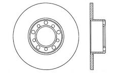 Centric Parts 121.35004 Disc Brake Rotor 68-76 Mercedes PRT1625 3415