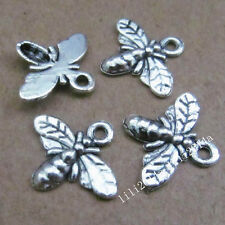 30pc Tibetan Silver Charms Cute Bee Insect Pendant Beads Jewellery Making PL264