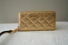 NEW Michael Kors Purse Susannah Quilt Leather Cell iPhone CASE Coin Bag Wristlet