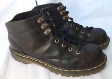 Dr Martens 8A32 Women's Ankle Boots Black Lthr Cushioned Sole  England EUC SZ 7