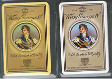Playing Swap Cards 2 VINT BRITISH  KING GEORGE 1V  SCOTCH WHISKY ADVT D70