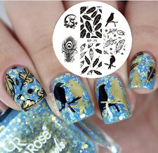 BORN PRETTY Nail Art Stamping Plate Dragon Feather Image Stamp Template BP75