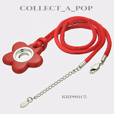 """Authentic Kameleon Red Hand Crafted Enamel Pendant on Silk Cord 18"""" KRP001C5"""