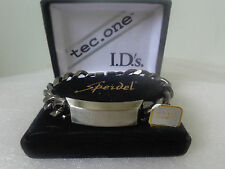 US Vintage SPEIDEL USA PEWTER ID Bracelet Designer Jewelry Collection Signed BD