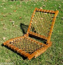 Nice Vintage Wood Folding Canoe Chair Vermont Tubbs Sno-Shu snowshoe ~1950s-60s