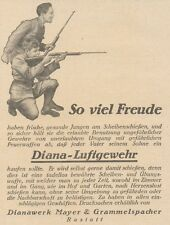 Y6346 DIANA Luftgewehr - Pubblicità d'epoca - 1925 Old advertising