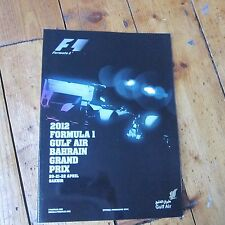 Bahrain Grand Prix 2012 Official Programme Formula 1 F1 Motor Racing