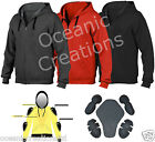Motorcycle Armoured Full Kevlar Lined Fleece Hoodie Hoody Top Protection XS- 5XL