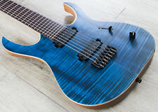 Mayones Duvell Standard 7-String Guitar Flamed Maple Top Trans Dirty Blue Matte