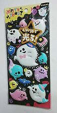 Q-lia Ghost Halloween Glow In Dark Extra Puffy Stickers Sticker Sheet Kawaii Bat