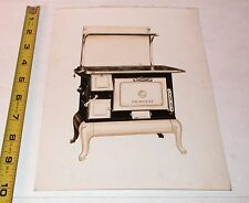 Antique Princess Wood Cook Stove Sample Advertising Photo