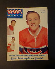Sport Revue Aout 1959 Provost Sawchuck Olmstead Imlach Adams Smythe Aout '59