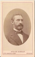 Humblot CDV photo Herrenportrait - Dresden 1870er