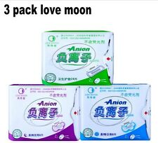 One lot 3 packs mix Anion Lovemoon Anion Sanitary napkin Anion pads