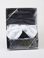Black + White CHEMO WEAR GIFT BOX 6 pc assortment Cancer Turban Bandana Cap Hat
