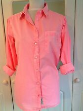 "BNWT JACK WILLS BOYFRIEND SHIRT  HOT PINK CORAL RRP £49.50 CHEST 34""  UK 4 6"