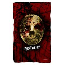 "FRIDAY THE 13TH Jason Bloody Mask Fleece Throw Blanket 36"" X 58"""