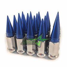 20 CHROME / BLUE SPIKED LUG NUTS 12X1.25   FOR: INFINITI G35 G37 Q50 Q60 Q70