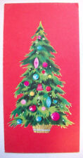 Decorated tree   Christmas vintage greeting card *I