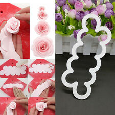 Silicone 3D Rose Flower Mould Fondant Cake Chocolate Sugarcraft Mold Tool Decor