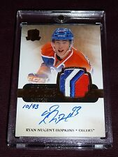 11-12 UD The Cup Ryan Nugent-Hopkins AUTO 3CLR PATCH Rainbow RC 10/93 L@@K Nice