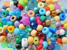 30g mixed assortment acrylic beads pony beads - kids bead mix free P&P