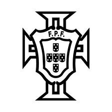 Autocollant Portugal FPF logo foot adhésif stickers couleur au choix blanc 15 cm