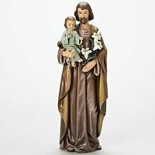"18"" ST. JOSEPH w/ CHILD JESUS Beautiful Detailed Statue INDOOR GARDEN STATUE"